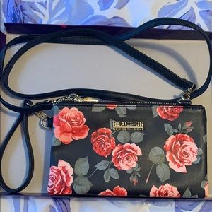 Clutch or crossbody triple pocket purse